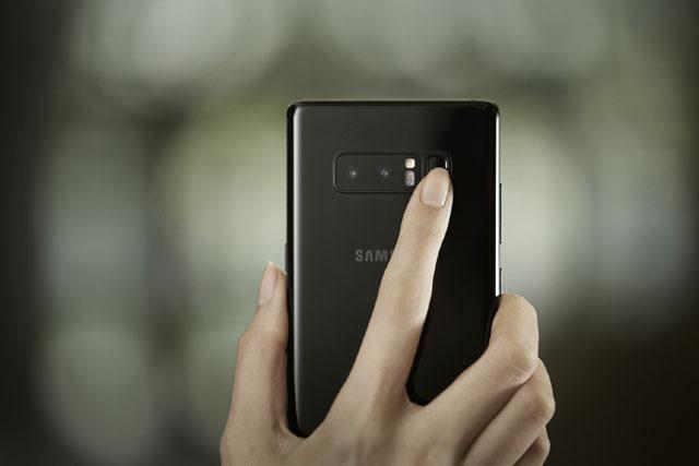Samsung Galaxy Note 8 - czytnik odcisków palców