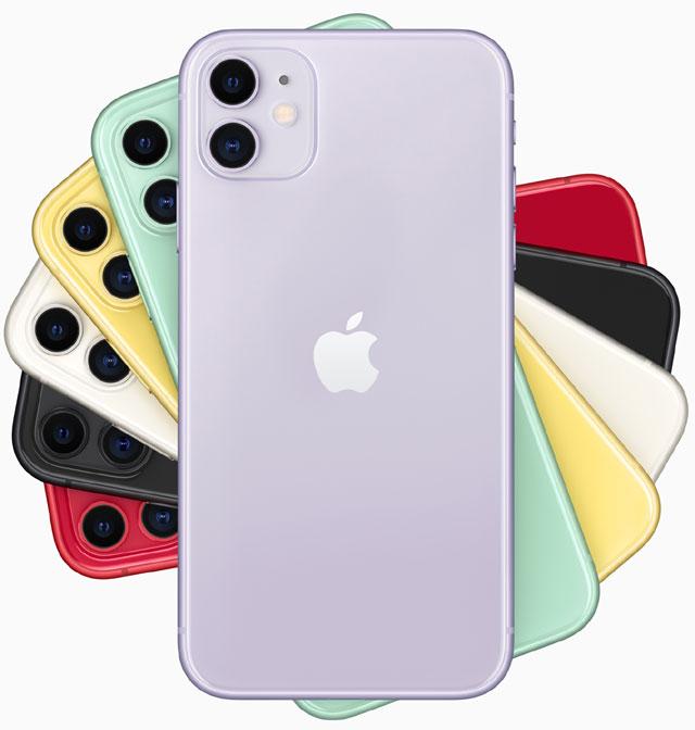 Apple iPhone 11 - wersje kolorystyczne