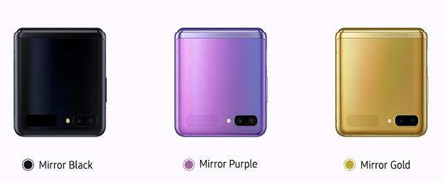 Samsung Galaxy Z Flip (wersje kolorystyczne)
