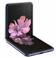 Samsung Galaxy Z Flip - rozłożony w połowie, z przodu