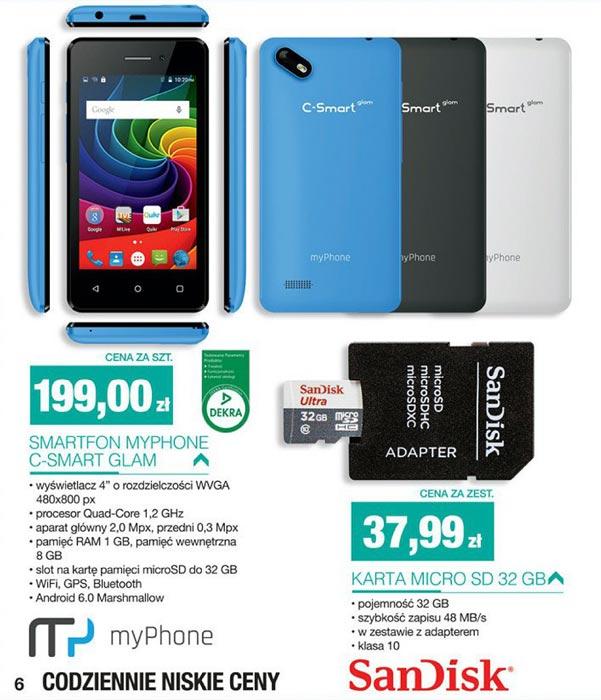 Smartfon myPhone C-Smart Glam w Biedronce za 199 zł