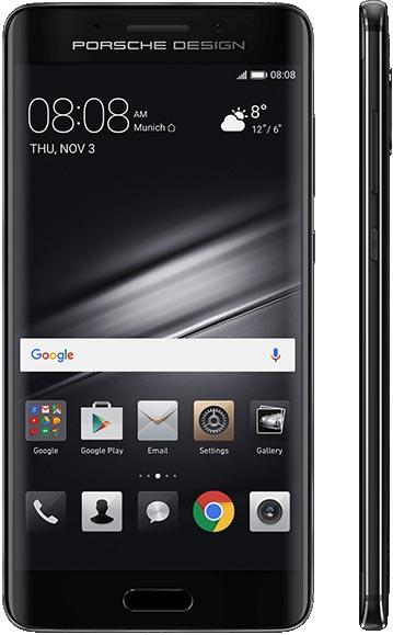 Smartfon Huawei Mate 9 PORSCHE DESIGN - widok z przodu i boku